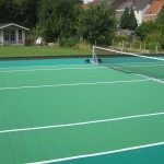 Tennisplein op dak